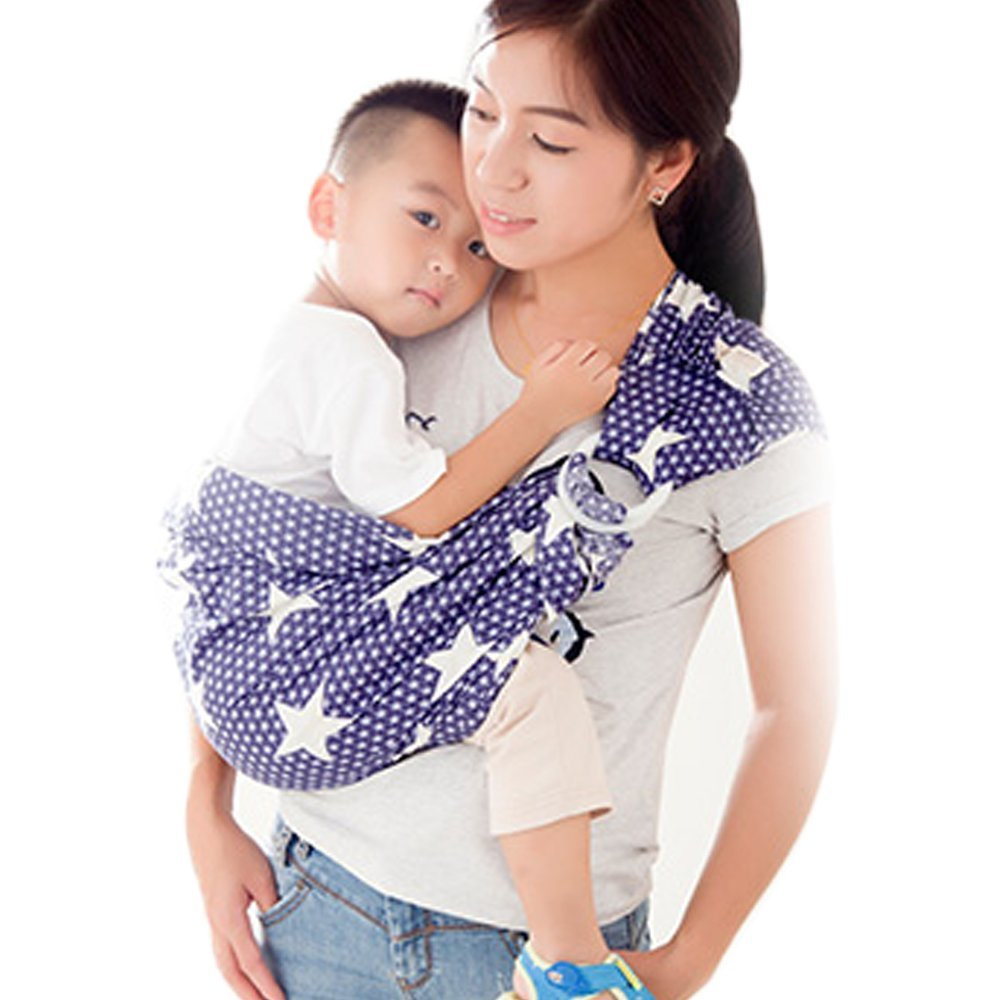 Cuby Handmade Cotton Ring Sling Wrap Baby Sling Carrier Best Gift For Parent (grey) Cuby  CBCA18