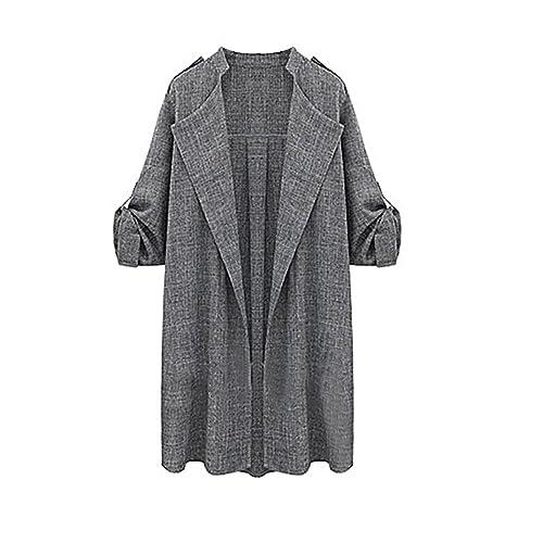 Ularma Abrigos de la mujer, Manto largo delantero abierto chaquetas abrigo