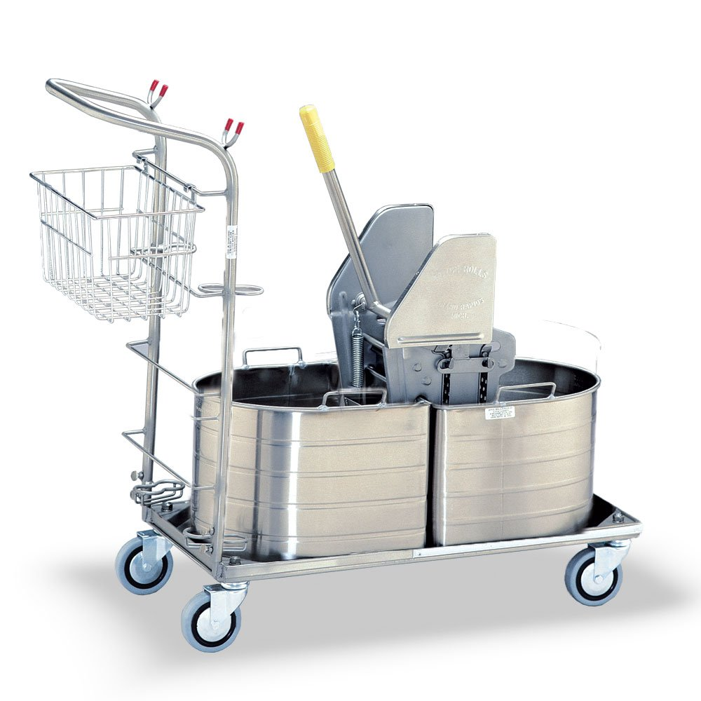 Royce Rolls Stainless Steel Half Oval Double Tank Mopping Unit - #1C-210-H
