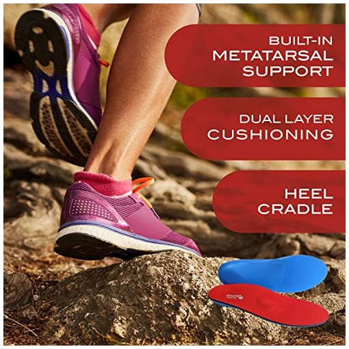 f405701f99 ... Powerstep Pinnacle Plus Full Length Orthotic Shoe Inserts - Built-In Metatarsal  Support. Sale