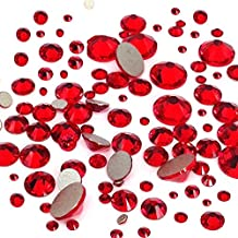 LIGHT SIAM (227) 144 pcs Swarovski 2058/2088 Crystal Flatbacks red rhinestones nail art mixed with Sizes ss5, ss7, ss9, ss12, ss16, ss20, ss30 **FREE Shipping from Mychobos (Crystal-Wholesale)**