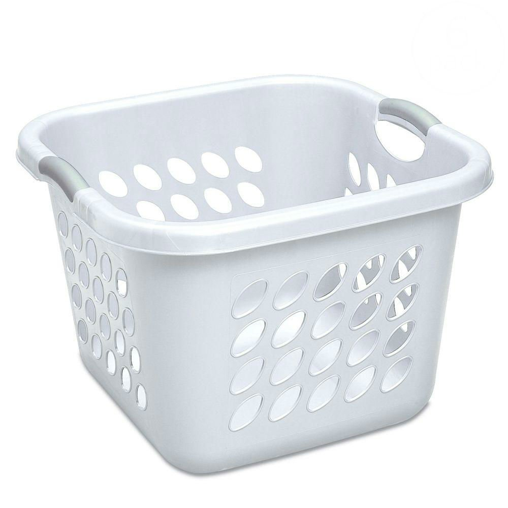 "STERILITE 12178006 Laundry Basket, 19"", White"
