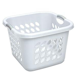 """STERILITE 12178006 Laundry Basket, 19"""", White"""
