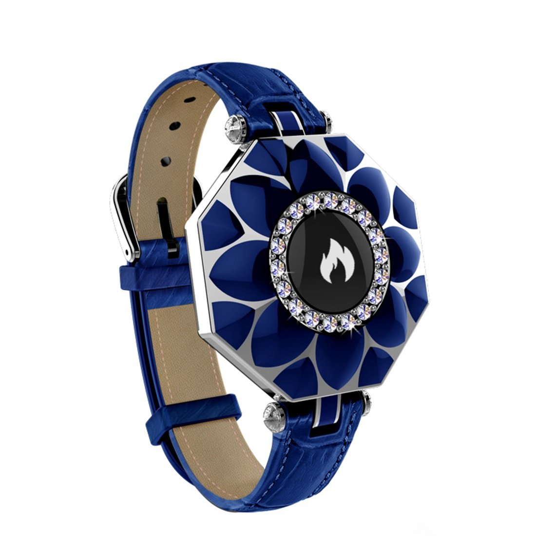 HDWY Smart Watch Fitness Heart Rate Monitor Tracker Smart Bracelet Activity Bluetooth Pedometer Sleep Monitor For Woman (Color : Blue)