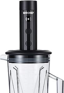 BioChef Vacuum Blender Container + Pump Converts your Vitamix into a Vacuum Blender, 3 Reusable Vacuum Bags, BPA FREE Vitamix compatible accessory (Black)