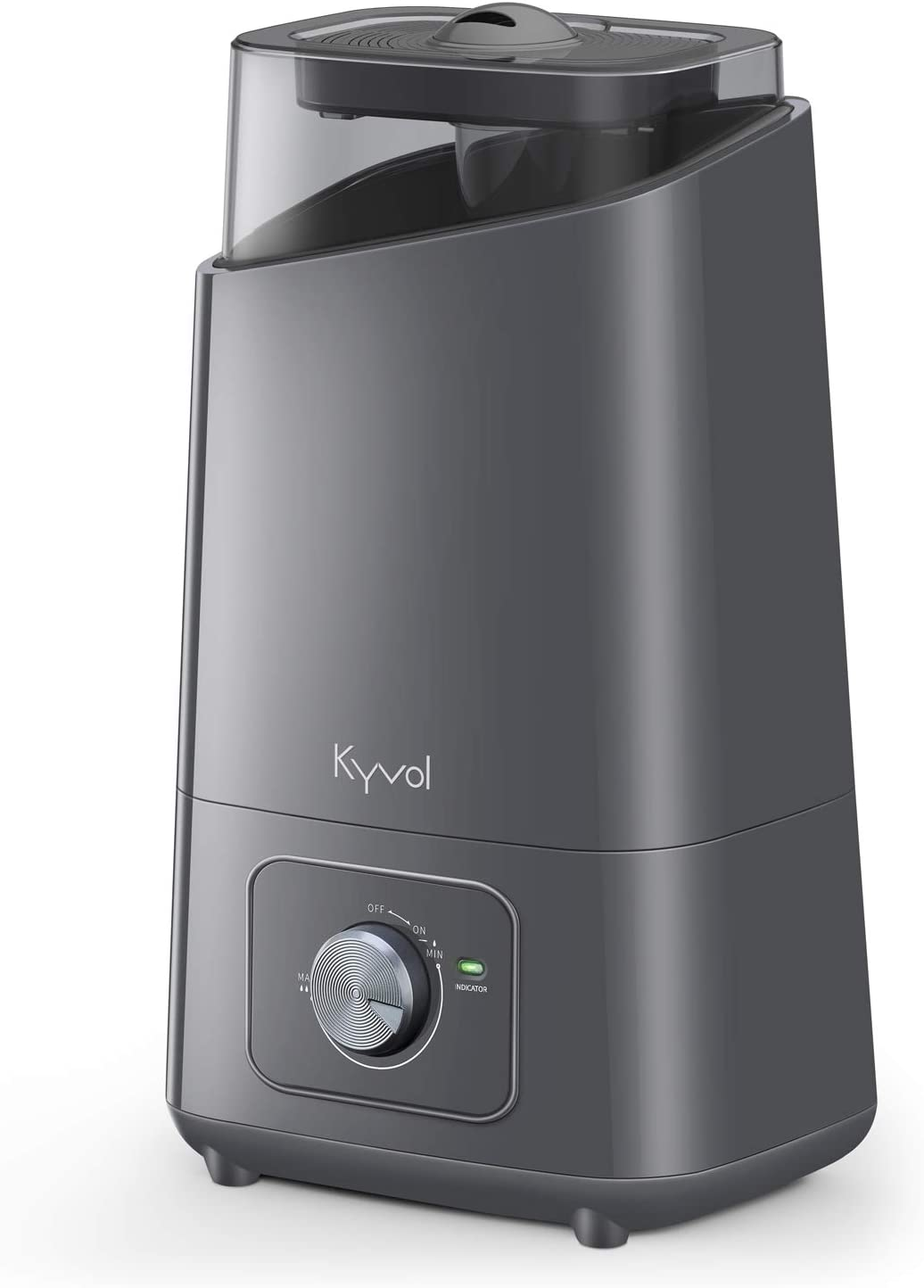 Kyvol Vigoair HD3 Humidifier, 4.5L Cool Mist Humidifiers, Whisper Quiet Ultrasonic Humidifiers for Large Bedroom, up to75 Hours Runtime Auto Shut-off, 360° Nozzle, Ideal for Plants/Home/Office/Baby Room