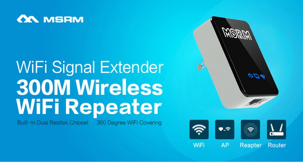 Amazon.com: MSRM US300 WiFi Range Extender Wireless WiFi Repeater ...
