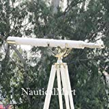 nm034541B Floor Standing Chrome With White Leather Anchormaster Telescope 65''