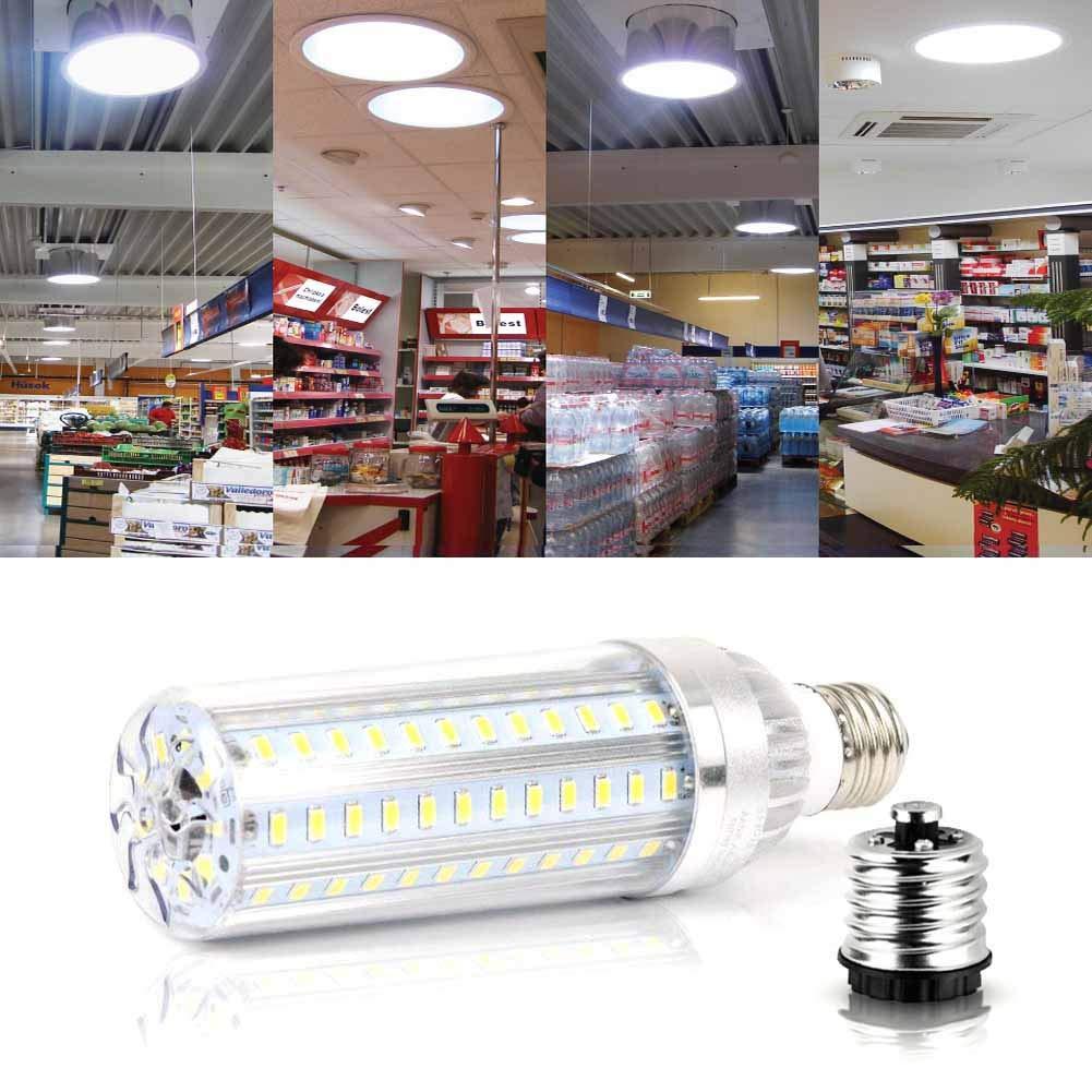 50W Super Bright LED Light Bulb 500 Watt Equivalent E26 5400 Lm 6500K LED Bulb Daylight Brightest Corn Light for Office House Outdoor Garage Commercial Ceiling Warehouse Factory Barn