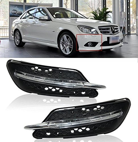 AupTech Off-Road Modification Good For Mercedes-Benz C-Class W204 C260 C300 Sport 2008 2009 2010 Daytime Running Lights LED DRL Kit