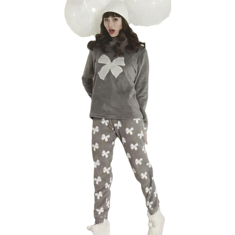 Milk and Honey pijama mujer | niña Polar pelo Coral Pd0560, gris: Amazon.es: Deportes y aire libre