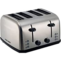 Black+Decker 4 Slice Stainless Steel Cool Touch Toaster with Crumb Tray, ET304-B5, Silver, 2 Year Brand Warranty