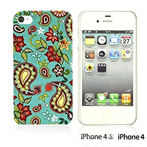 Fabric Pattern Hard Back For LG G2 Case CoverBlue Paisley