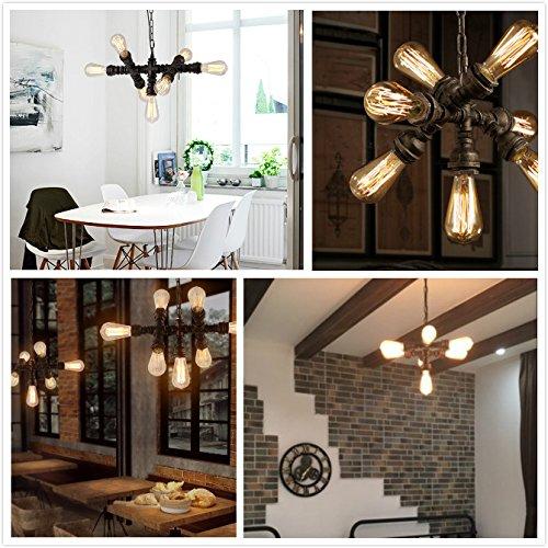 industrial loft lighting. SUSUO Lighting Industrial LOFT Steampunk Steel Pipe Chandeliers With 7- Lights Adjustable Metal Pendant Ceiling Fixture Loft