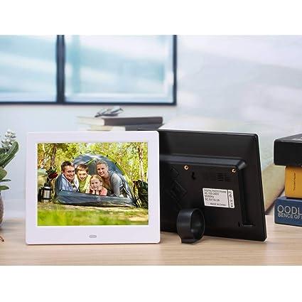 Four 7 Pulgadas Marco de Fotos Digital 4:3 Pantalla de Alta resolución Reloj MP3