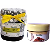 Farm Naturelle (Farm Natural Produce) Ayurved Raw Natural Unprocessed Tulsi Forest Flower Honey with Cinnamon Powder Pack-250 g