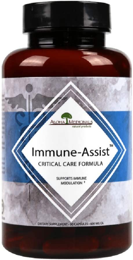 Aloha Medicinals – Immune Assist Critical Care Formula – Potent Immune Support – Certified Organic Mushroom Supplement – 500mg – 84 Vegetarian Caps