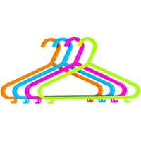 HK Pack of 40 Plastic Coat Hangers for Kids Clothes