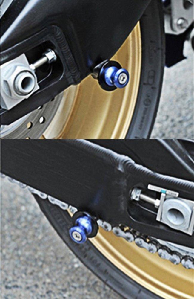 Orange Universel Moto CNC Aluminium M6*1,5 Diabolos Vis du Bras Oscillant pour Yamaha YZF R1 R3 R6 R25 R125 R1000 R6S Yamaha MT-01 MT-03 MT-09 MT-10 Aprilia RSV4 RSV4 R