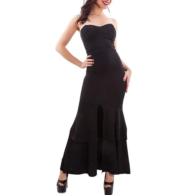 8903026444e89 Toocool - Vestito Donna Elegante Sirena Abito Lungo Scollato Aderente Sexy  Nuovo CJ-9164  Taglia Unica