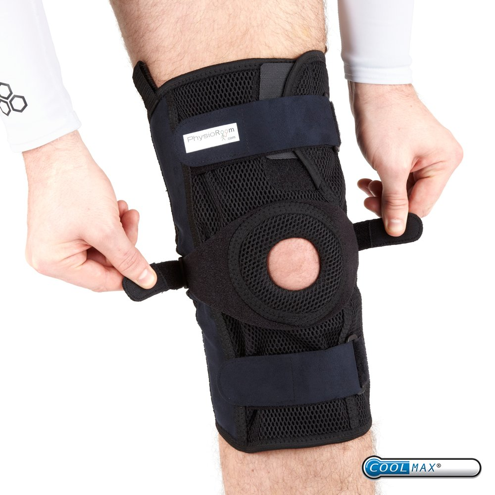 e2179b4039 PhysioRoom Hinged Knee Brace - Waterproof Knee Ligament Support Elite Pro  Mesh: Amazon.co.uk: Sports & Outdoors