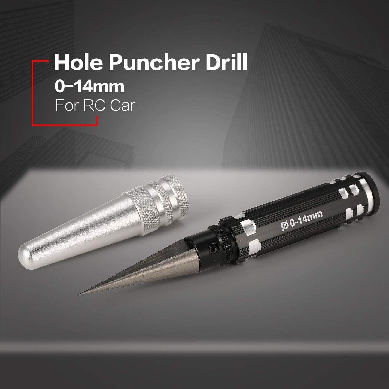 Trou Ouvreur Expansif Punch Shell Al/ésoir Perceuse 0-14mm en M/étal en Acier RC Hobby DIY Outils pour RC Mod/èle De Carrosserie
