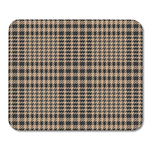 Nakamela Mouse Pads Cashmere Glen Check Tweed Beige and Grey Imitation and Abstract Checker Mouse mats 9.5