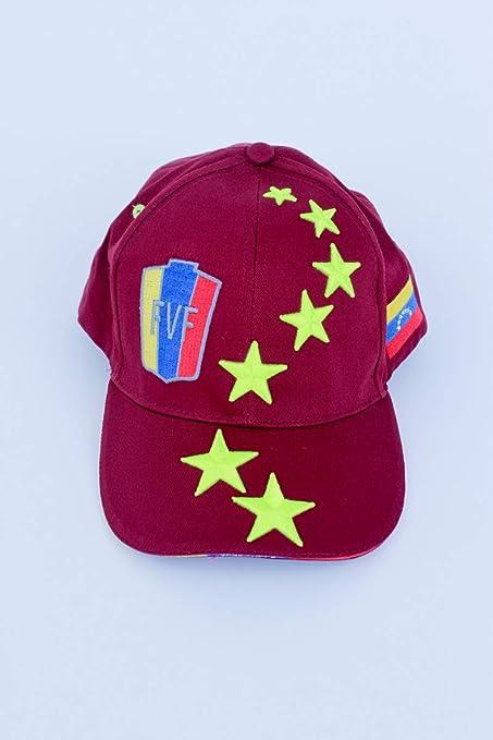 7 ESTRELLAS LA VINOTINTO RETRO NEON STYLE FVF Soccer Hat Burgundy - Gorra de Venezuela Futbol
