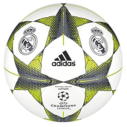 adidas Finale15RM Cap - Balón de fútbol, Color Blanco/Plata ...
