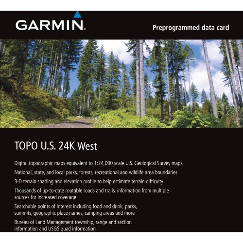 Garmin MapSource Topographic Coverage California