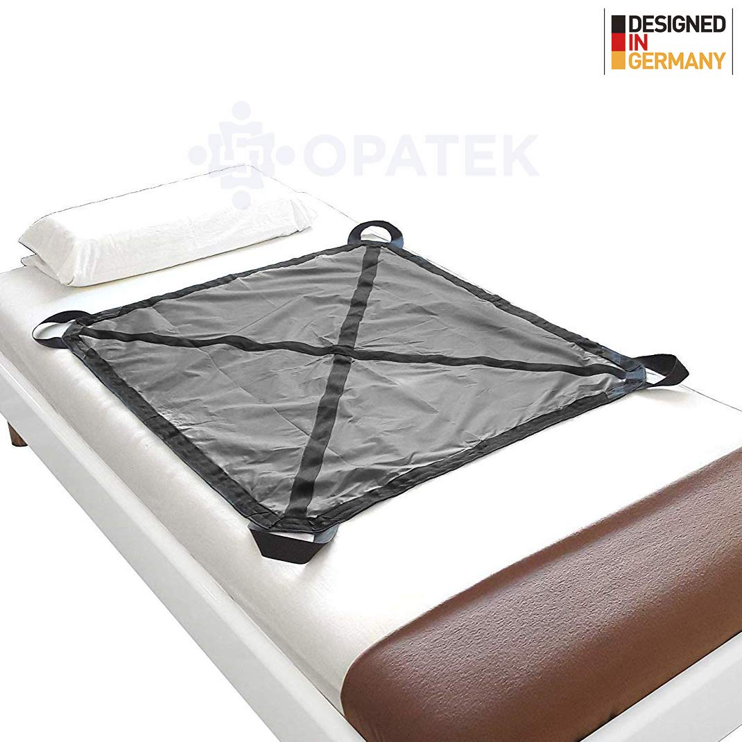 Heavy Duty Patient Positioning Sheet for Lifting, Turning and Transfer, Reusable, Washable, Supports 250 lbs. (42'' x 36'') by Opatek