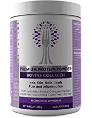 Bovine Hydrolysed Collagen Protein Powder - Wrinkles, Hair, Skin, Nails, Bones, Joints, Gut, Pain, Injury, Sleep, Fitness, Keto,13,000mg dose, 20x Stronger & 15x Cheaper Than Capsules, BSE Safe