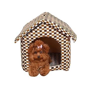 Caseta de Perro Simple Nido de Gato Extraíble Transportable Lavable Encantador y Cómodo Jaula para Perro Pequeño Tipo 3: Amazon.es: Productos para mascotas