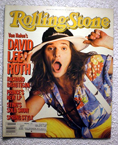 David Lee Roth - Van Halen - Rolling Stone Magazine - #445 - April 11, 1985 - Richard Brautigan article ()