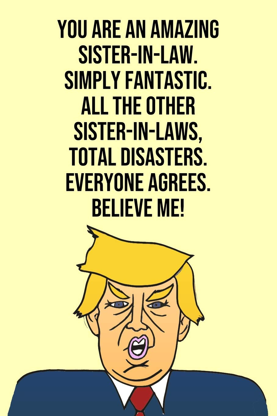 You Are An Amazing Sister In Law Simply Fantastic All The Other Sister In Laws Total Disasters Everyone Agree Believe Me Donald Trump 110 Page Blank Sister In Law Gag Gift Idea Better Than A Card Press Laugh House