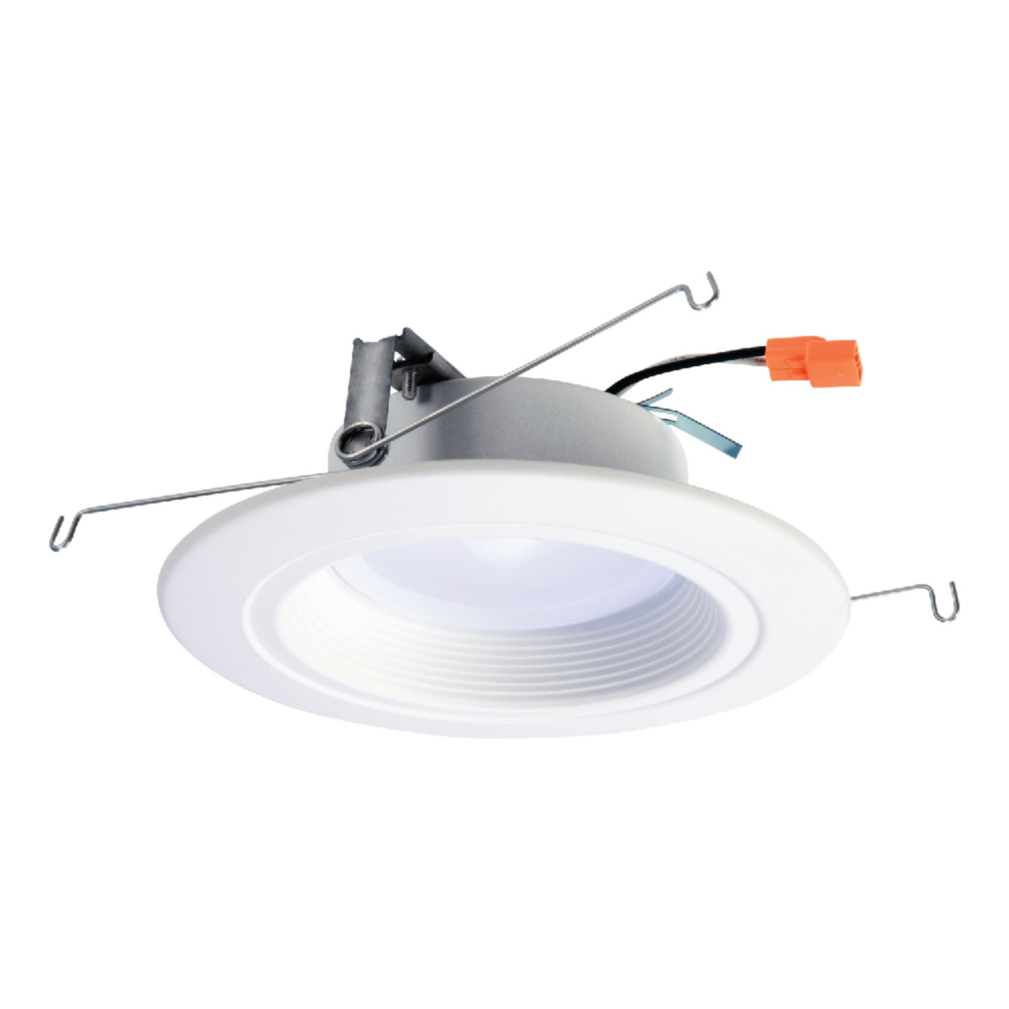 HALO RL 5 in. and 6 in. Matte White Integrated LED Recessed Lighting Retrofit Downlight Trim with 90 CRI, 3000K Soft White - RL560WH6930
