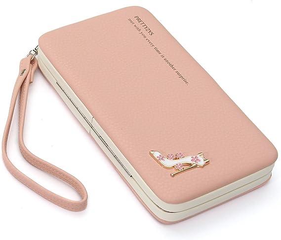 FASHION Da Donna Lady in Pelle Wallet Clutch Lungo Porta Carte Di Credito Custodia Borsetta Handbag UK