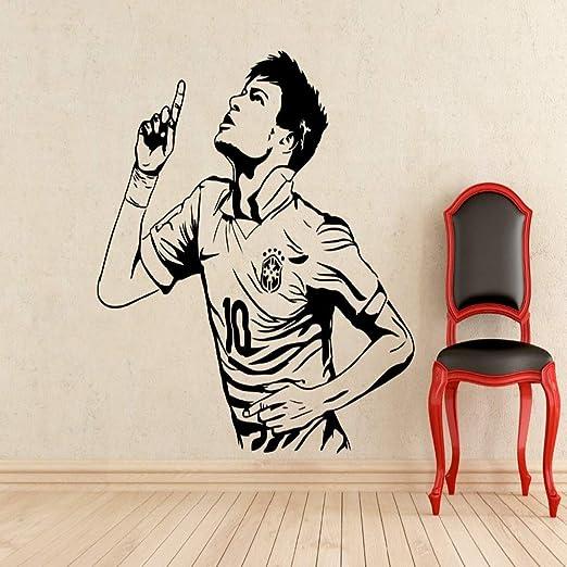 xingbuxin Neymar Barcelona Tatuajes de Pared Futbolista Niños ...