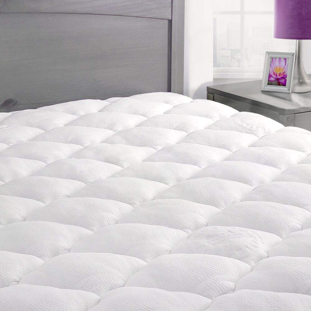 Exceptional Sheets Bamboo Mattress Pad with Fitted Skirt – Extra Plush Cooling Topper