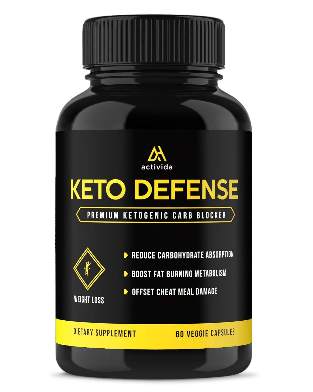 Premium Ketogenic Carb Blocker & Keto Appetite Suppressant Supplement - White Kidney Bean Extract, Green Tea, Ceylon Cinnamon Powder & Chromium Vegan Capsules - Natural Ketosis Blend