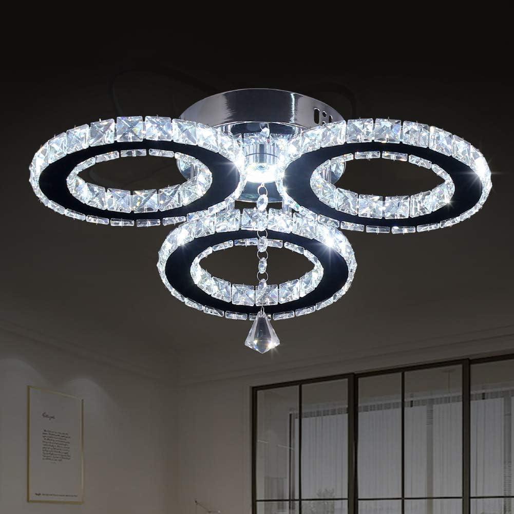 3//5//7 Way LED Crystal Ceiling Light Chandelier Lamp Kitchen Modern Bedroom Light