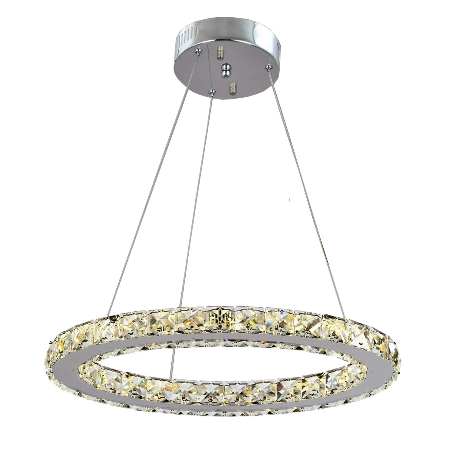 GDNS Modern Crystals Chandeliers,Ceiling Lights Fixtures,Pendant Lighting for Living Room Bedroom Restaurant Porch Dining Room,One Rings (One ring,Dia 30cm)