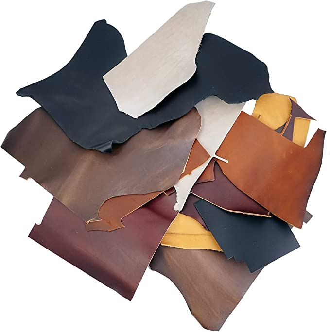 Dark Coffee Natural Leather Pieces Genuine Leather sheets Cow Skin Leather Crafts Real Leather Supplies DIY Leather Scrap for Jewelry
