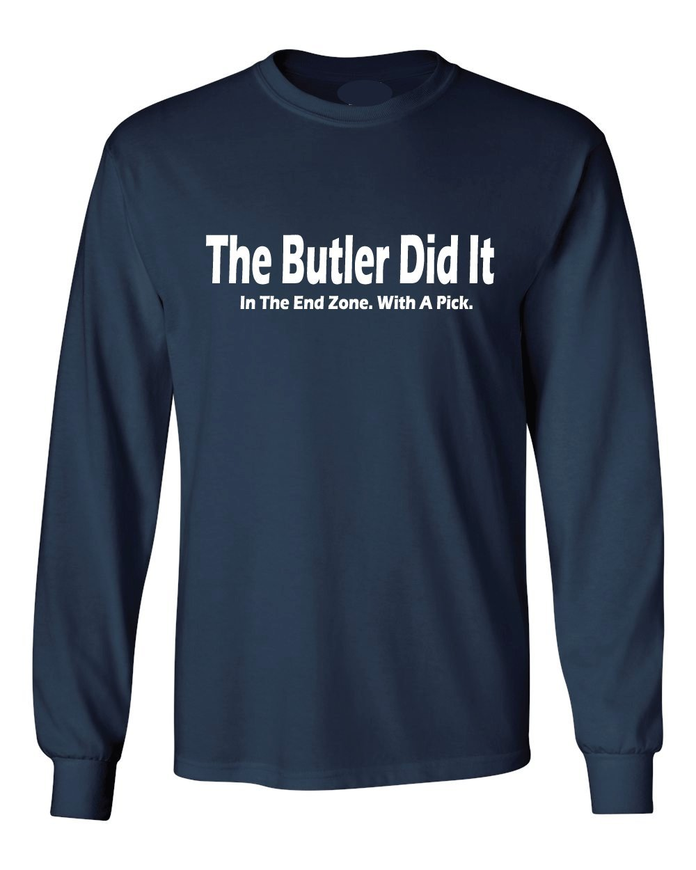 Amazon The Butler Did It Long Sleeve Navy Shirt Sports