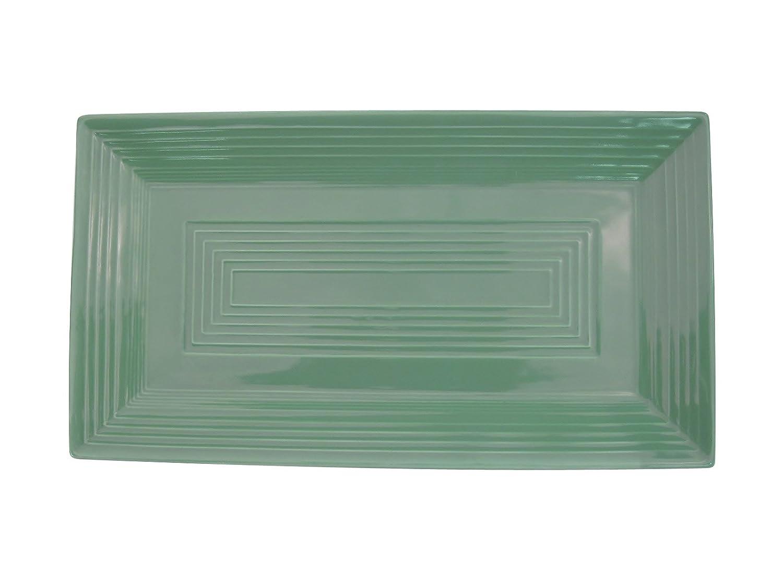 11-5//8-Inch by 6-3//8-Inch Box of 12 CAC China TG-RT13G Tango Green Porcelain Rectangular Platter