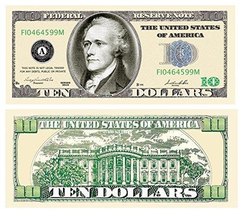 Set of 100   10.00 Casino Party Money by www.AmericanArtClassics