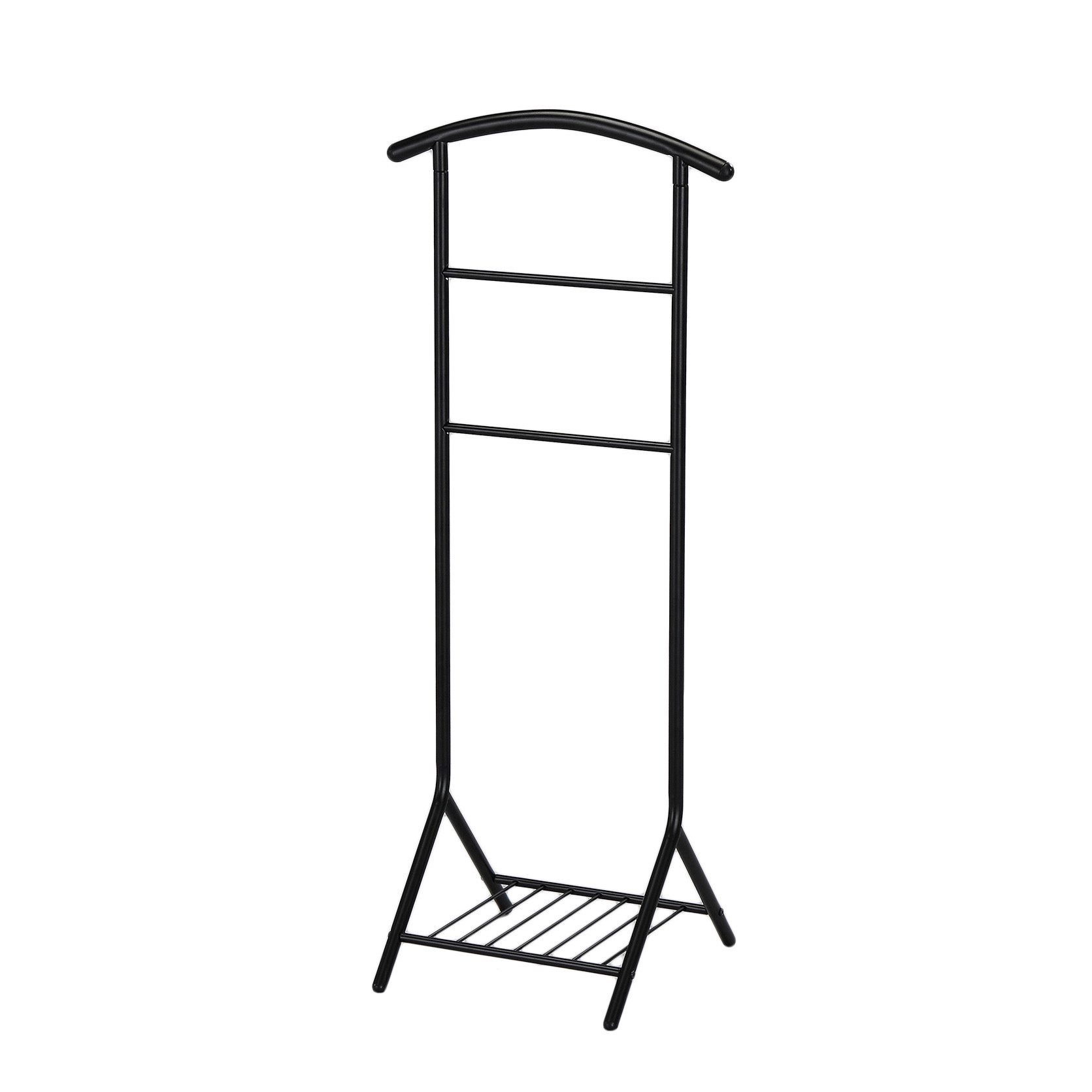 Best, Elegant and Free Standing Black Metal Clothes Valet Stand Organizer