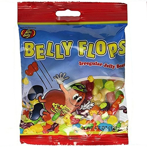Jelly Belly, Belly Flops Irregular Jelly Beans 4.7 Oz Bag (Pack of 5)