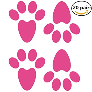 amazon com 20 pairs easter bunny footprints rabbit feet with rh amazon com