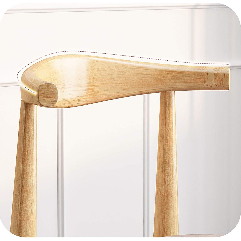 JHZY Matstol, mänsklig teknik kolstål horn stol, PU svampkudde (finns i flera färger) (Färg: C) a